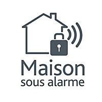 """Etiquette """"Maison sous alarme"""" Blyss"""
