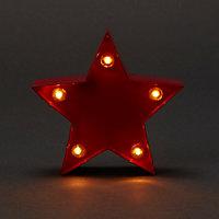 Etoile 3d rouge 10 cm