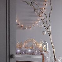 Etoile lumineuse en bois craquelé
