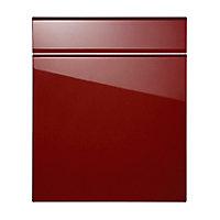 Façade de cuisine 1 porte 1 tiroir Globe rouge 60 cm