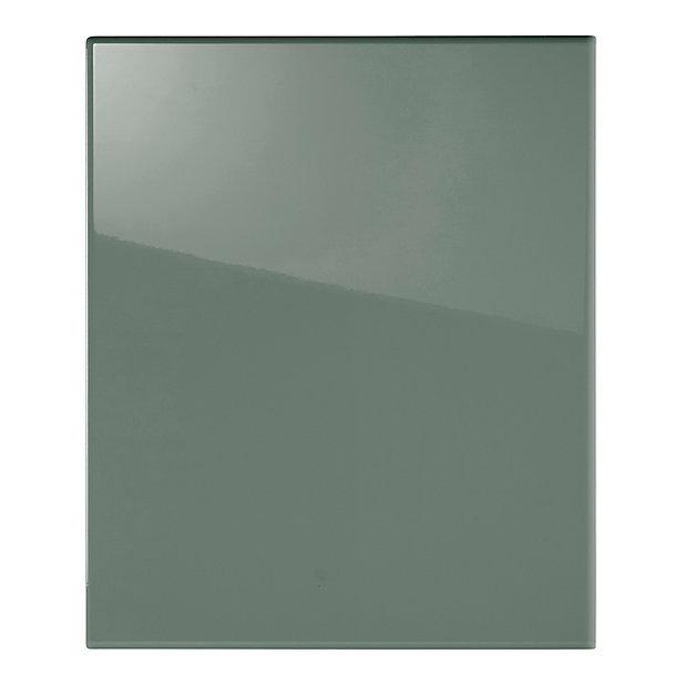 facade de cuisine 1 porte vert sixties l 60 cm