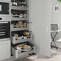 Façade de cuisine 1 tiroir et 2 casseroliers GoodHome Garcinia ciment l. 59.7 cm x H. 71.5 cm
