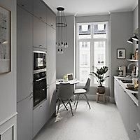 Façade de cuisine 1 tiroir et 2 casseroliers GoodHome Stevia gris mat l. 49,7 x H. 71,5 cm