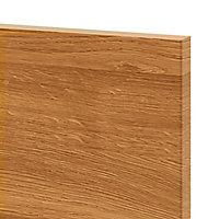 Façade de cuisine 3 tiroirs et 1 casserolier GoodHome Chia chêne fumé l. 49.7 cm x H. 71.5 cm