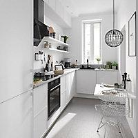 Façade de cuisine 3 tiroirs et 1 casserolier GoodHome Pasilla Blanc l. 39.7 cm x H. 71.5 cm