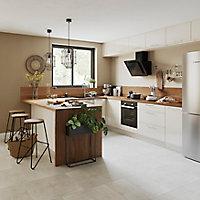 Façade de cuisine 3 tiroirs et 1 casserolier GoodHome Stevia Crème l. 39.7 cm x H. 71.5 cm