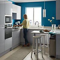 Façade de cuisine pour caisson hotte / casserolier GoodHome Alisma Gris l. 79.7 cm x H. 35.6 cm