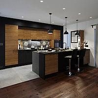 Façade de cuisine pour caisson hotte / casserolier GoodHome Pasilla Noir l. 49.7 cm x H. 35.6 cm