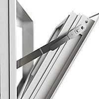 Fenêtre abattant alu GoodHome blanc - l.120 x h.45 cm