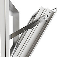 Fenêtre abattant alu GoodHome blanc - l.120 x h.60 cm