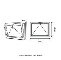 Fenêtre abattant bois GoodHome - l.60 x h.45 cm