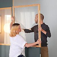 Fenêtre Alara claire contour chêne 100 x h.100 cm