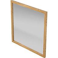 Fenêtre Alara givrée contour chêne 100 x h.100 cm