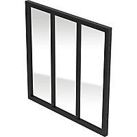 Fenêtre Alara style industriel noir 100 x h.100 cm
