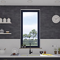 Fenêtre alu 1 vantail oscillo-battant GoodHome gris - l.40 x h.65 cm, tirant gauche