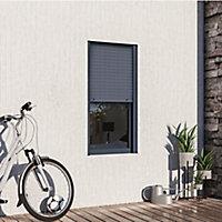 Fenêtre alu 1 vantail oscillo-battant + volet roulant électrique GoodHome gris - l.60 x h.115 cm, tirant droit