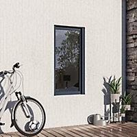Fenêtre alu 1 vantail oscillo-battant + volet roulant électrique GoodHome gris - l.60 x h.115 cm, tirant gauche