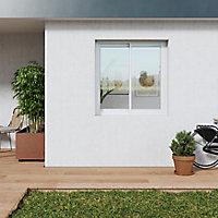 Fenêtre alu 2 vantaux coulissant GoodHome blanc - l.140 x h.135 cm