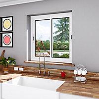 Fenêtre alu 2 vantaux coulissante blanc - l.120 x h.120 cm