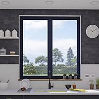 Fenêtre alu 2 vantaux oscillo-battant GoodHome gris - l.100 x h.75 cm