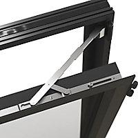 Fenêtre alu 2 vantaux oscillo-battant GoodHome gris - l.120 x h.125 cm