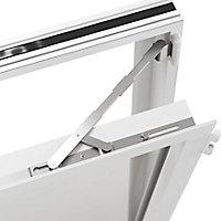 Fenêtre alu 2 vantaux oscillo-battant + volet roulant électrique GoodHome blanc - l.100 x h.115 cm