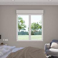 Fenêtre alu 2 vantaux oscillo-battant + volet roulant électrique GoodHome blanc - l.140 x h.135 cm