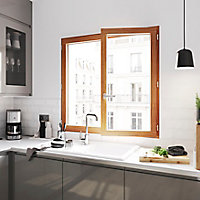 Fenêtre bois 1 vantail GoodHome - l.50 x h.75 cm, tirant gauche