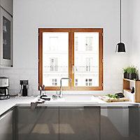 Fenêtre bois 2 vantaux GoodHome - l.100 x h.105 cm, tirant droit