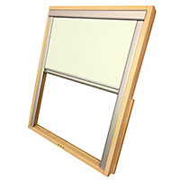 Fenêtre de toit 78 x 98 cm + store occultant beige Site