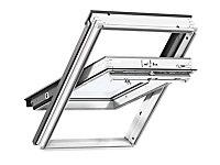 Fenêtre de toit à rotation VELUX Triple vitrage - Whitefinish (bois peint en blanc) L. 55 x H. 98 cm (GGL 2062 CK04)