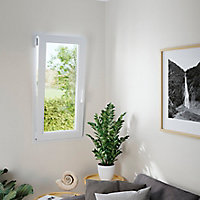 Fenêtre PVC 1 vantail oscillo-battant GoodHome blanc - l.40 x h.45 cm, tirant droit