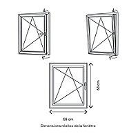 Fenêtre PVC 1 vantail oscillo-battant GoodHome blanc - l.50 x h.60 cm, tirant gauche