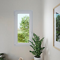 Fenêtre PVC 1 vantail oscillo-battant GoodHome blanc - l.60 x h.45 cm, tirant droit