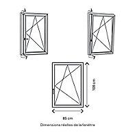 Fenêtre PVC 1 vantail oscillo-battant GoodHome blanc - l.80 x h.105 cm, tirant droit