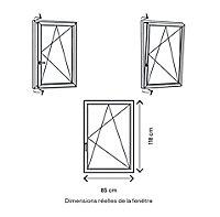 Fenêtre PVC 1 vantail oscillo-battant GoodHome blanc - l.80 x h.115 cm, tirant droit