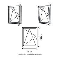 Fenêtre PVC 1 vantail oscillo-battant GoodHome blanc - l.80 x h.135 cm, tirant gauche