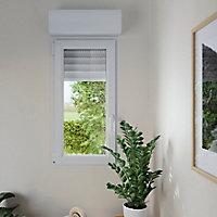 Fenêtre PVC 1 vantail oscillo-battant + volet roulant électrique GoodHome blanc - l.40 x h.45 cm, tirant gauche