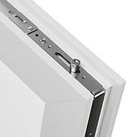 Fenêtre PVC 1 vantail oscillo-battant + volet roulant électrique GoodHome blanc - l.60 x h.75 cm, tirant droit
