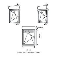 Fenêtre PVC 1 vantail oscillo-battant + volet roulant électrique GoodHome blanc - l.60 x h.75 cm, tirant gauche