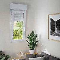 Fenêtre PVC 1 vantail oscillo-battant + volet roulant électrique GoodHome blanc - l.60 x h.95 cm, tirant droit