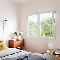 Fenêtre PVC 2 vantaux oscillo-battant GoodHome blanc - 90 x h.105 cm