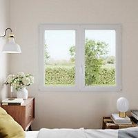Fenêtre PVC 2 vantaux oscillo-battant GoodHome blanc - 90 x h.115 cm