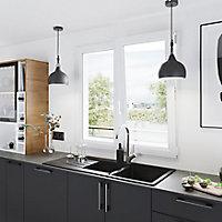 Fenêtre PVC 2 vantaux oscillo-battant GoodHome blanc - l.100 x h.105 cm