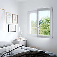 Fenêtre PVC 2 vantaux oscillo-battant GoodHome blanc - l.100 x h.135 cm