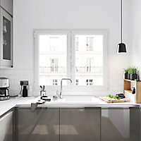 Fenêtre PVC 2 vantaux oscillo-battant GoodHome blanc - l.100 x h.145 cm