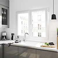 Fenêtre PVC 2 vantaux oscillo-battant GoodHome blanc - l.100 x h.185 cm