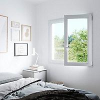 Fenêtre PVC 2 vantaux oscillo-battant GoodHome blanc - l.140 x h.135 cm