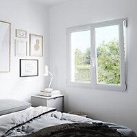 Fenêtre PVC 2 vantaux oscillo-battant GoodHome blanc - l.80 x h.75 cm