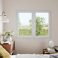 Fenêtre PVC 2 vantaux oscillo-battant GoodHome blanc - l.90 x h.155 cm
